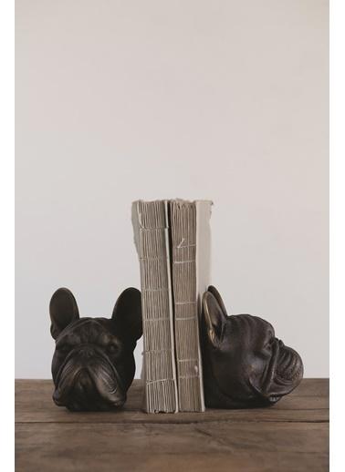 Warm Design Dekoratif Köpek Kitap Düzenleyicisi Bronz